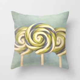 3 popsicles Throw Pillow