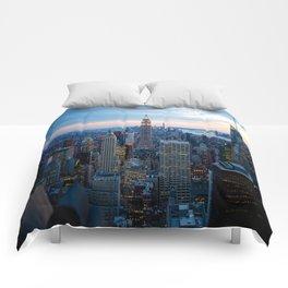 New York City Dusk Comforters