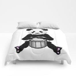 Panda Drummer Comforters