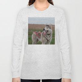 Siberian Husky sled dog Long Sleeve T-shirt