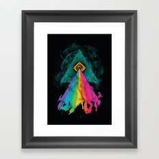 Eye of Prism Framed Art Print