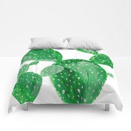 Green cactus Comforters
