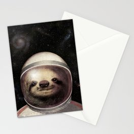 Space Sloth Stationery Cards