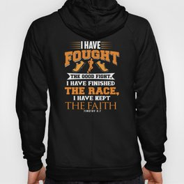 Inspirational Bible Verse print for Runners and Athletes Hoody