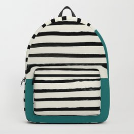 Teal x Stripes Backpack