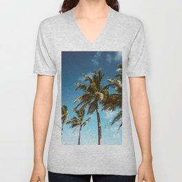 palm tree in miami Unisex V-Neck