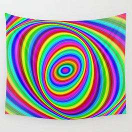 Rainbow Hypnosis Wall Tapestry