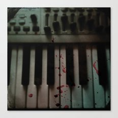 Music.Death.Analog Canvas Print