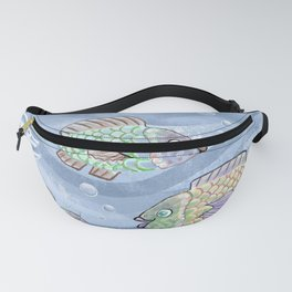 Fish in a pond pattern design Fanny Pack