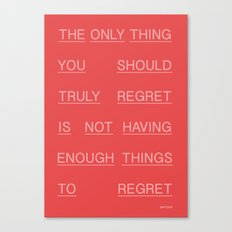 REGRETS Canvas Print