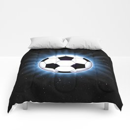 Spacey Soccer Ball Comforters