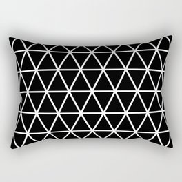 Triangle Black and White Pattern | Minimalism Rectangular Pillow