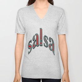 Salsa Dent Text Unisex V-Neck