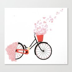 love cycle Canvas Print
