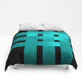 Abstraction .Weave turquoise satin ribbons . Patchwork . Comforters