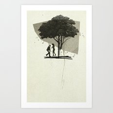 (Down By The) Family Tree | Collage Art Print