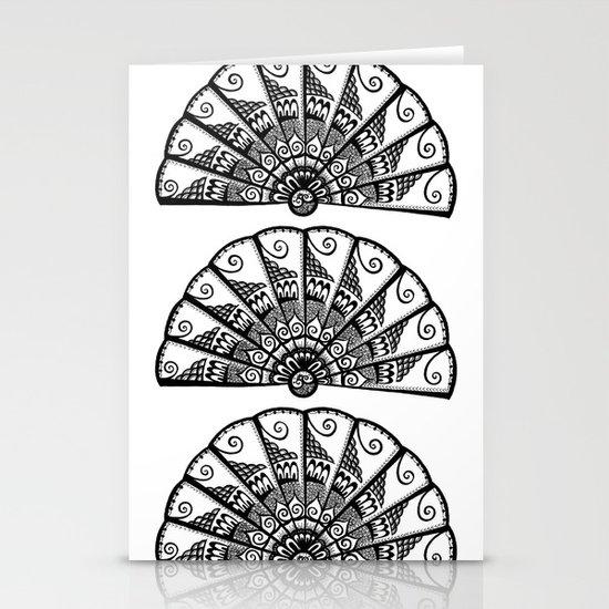 Triple Fan Stationery Cards