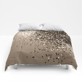 Sparkling Sepia Lady Glitter #1 #shiny #decor #art #society6 Comforters