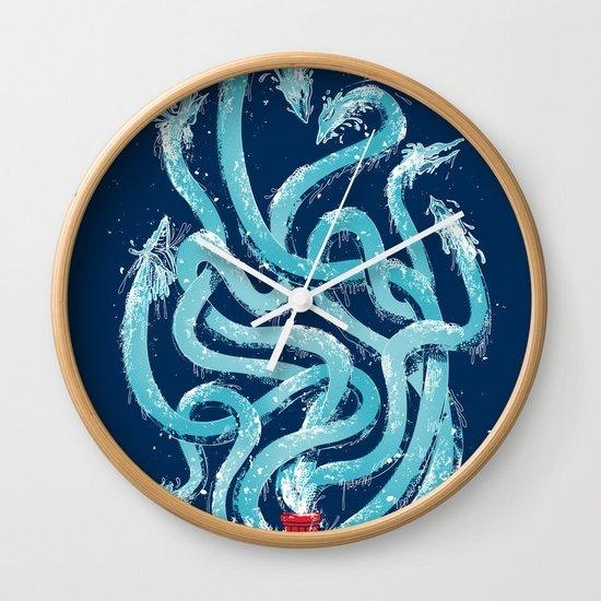 Firehydra! Wall Clock