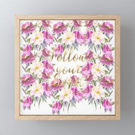 Pink Roses Floral Framed Mini Art Print