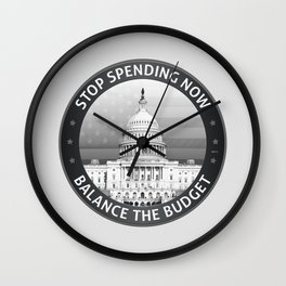 Balance The Budget Wall Clock