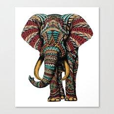 Ornate Elephant (Color Version) Canvas Print