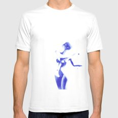 Woman in watercolour MEDIUM Mens Fitted Tee White