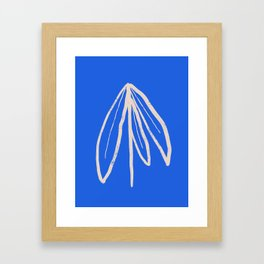 Blue Plant Framed Art Print