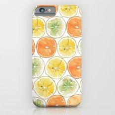 Orange Print iPhone 6s Slim Case