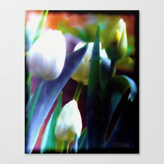 Rainbow floral Canvas Print