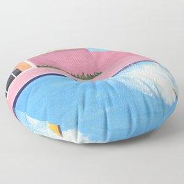 Splash! after David Hockney Floor Pillow