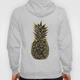 Modern geometric gold pineapples design Hoody