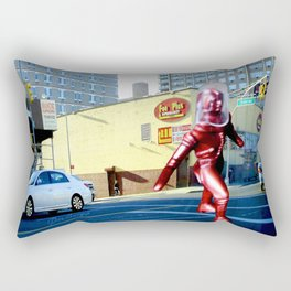 Spaceman crossing Kissina Boulevard in Queens New York Rectangular Pillow