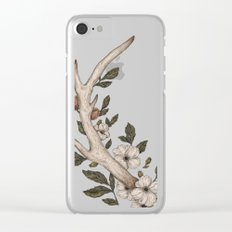 Floral Antler Clear iPhone Case