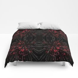 Blooming Red | Fireworks Comforters