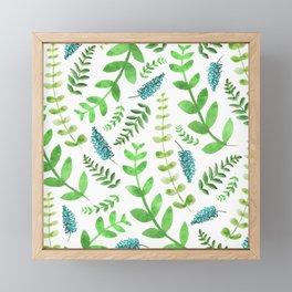 Greenery Leaves Pattern Framed Mini Art Print