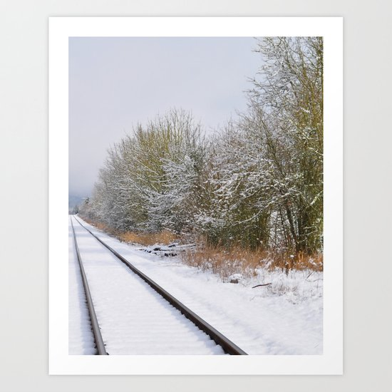 Remnants of a Simpler Time - The Tracks Art Print