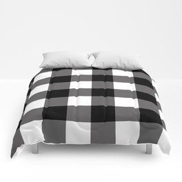 Black & White Buffalo Plaid Comforters