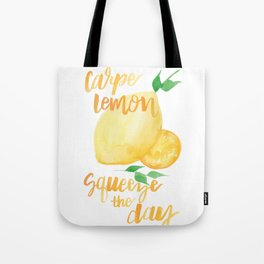 Carpe Lemon : Squeeze the Day Tote Bag