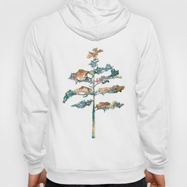 Pine Tree #2 in pink and blue - Ink painting Hoody