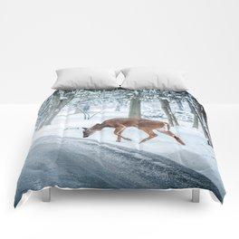 snow deer Comforters