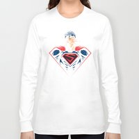 man of steel Long Sleeve T-shirts featuring Man of Steel by Steven Toang
