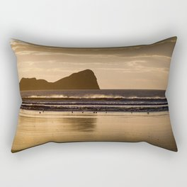 Rhossili beach and Worms Head Rectangular Pillow