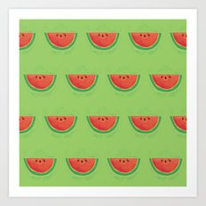 Mmmmm....Watermelon Art Print