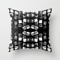 Stamp Black and White Throw Pillow
