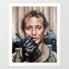 Bill Murray / Ghostbusters / Peter Venkman / Close-Up Art Print