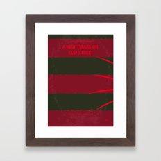 No265 My NIGHTMARE ON ELMSTREET minimal movie poster Framed Art Print