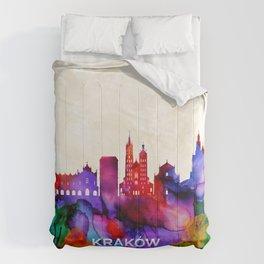 Krakow Skyline Comforters