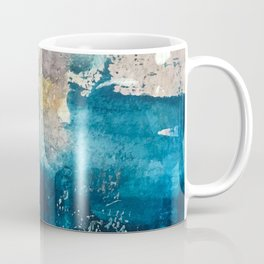 Timeless: A gorgeous, abstract mixed media piece in blue, pink, and gold by Alyssa Hamilton Art Coffee Mug