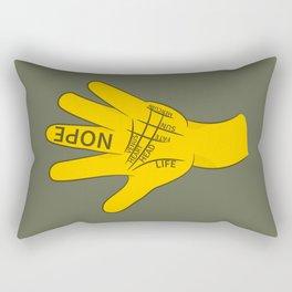 Palmistry Nope Rectangular Pillow